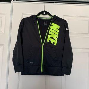 Boys Nike black zip up hoodie